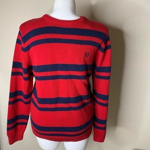 NWT Chaps Red and Blue stripe Pullover 100% Cotton